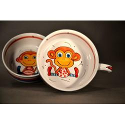 miska s uchem - opička
